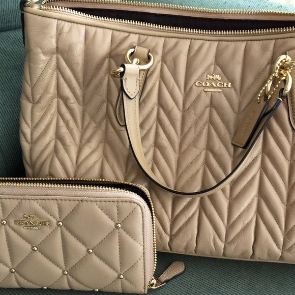 70d25bc0196b Coach Ally Satchel with Quilting w  wallet